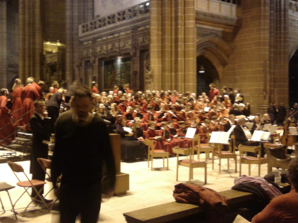 Christmas in Liverpool, carol service!