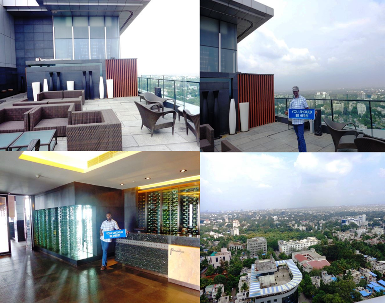 Tour of Pune views from the Pasha Roof top Lounge! #VisitIndia #DreamTrips