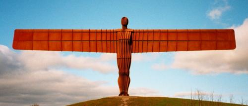 Angel of The North in Tyneside Newcastle! #angelofthenorth