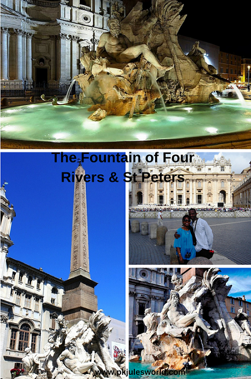 Dont miss the Fountain of Four Rivers in Rome #Romeattractions
