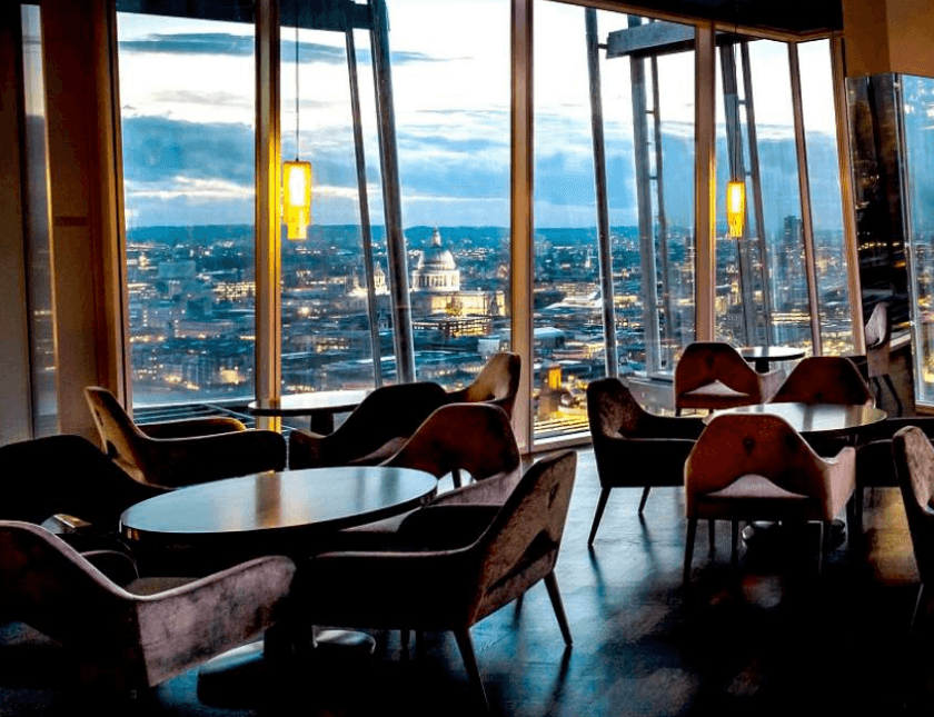 Experience London AquaShard Bar, The Views are breathtaking!
