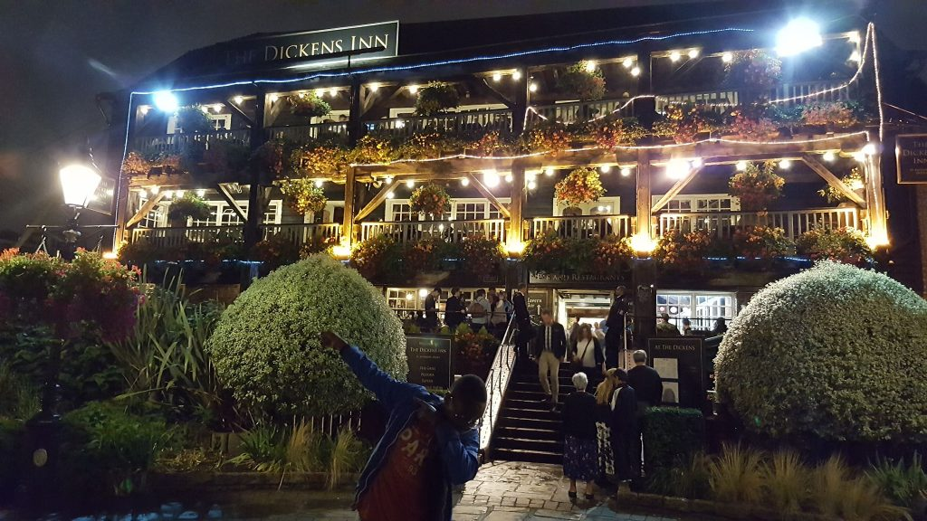 Experience London by Night- The Dickens Inn #London attractions