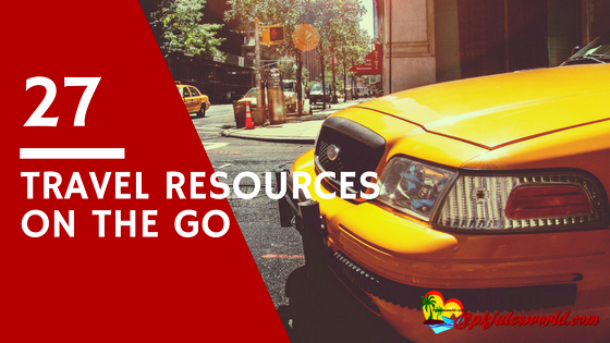 Travel Resources we use on the go | Pkjulesworld #travelplanning