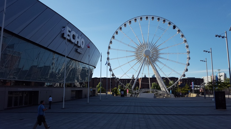 The Liverpool Echo Arena and Liverpool Big Wheel on the Waterfront Albert Dock! #visitliverpool #liverpoolwaterfrontevents