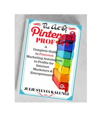The Art Of Pinterest Profits eBook on Amazon for your Pinterest Assets!