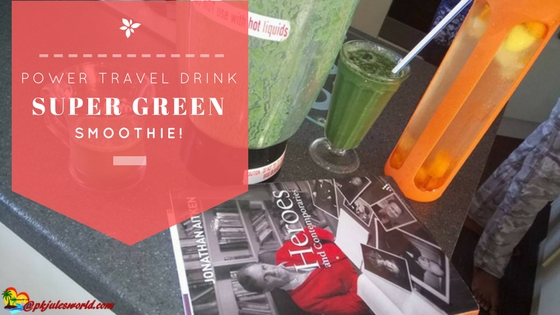My Fabulously Power Healthy Super Green Travel Smoothie! #greensmoothie #TastyTuesday