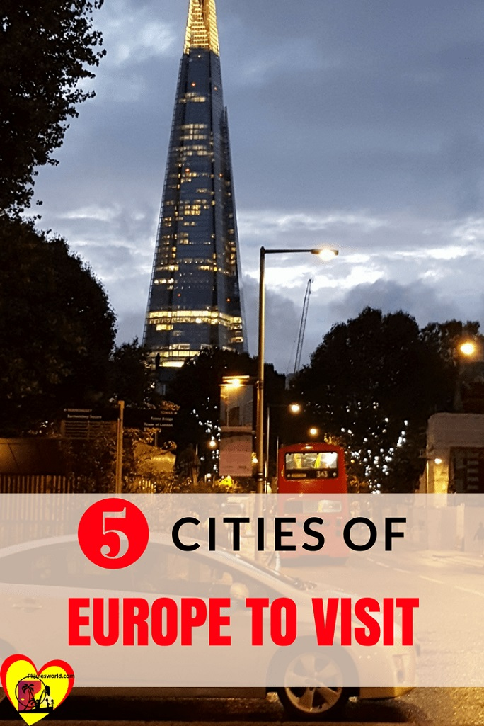 5 cities of Europe to visit - London The Shard