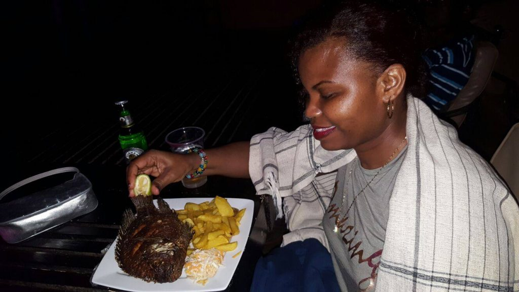 Eat Like a Local in Kampala Uganda - Enjoy a whole Fish Dinner