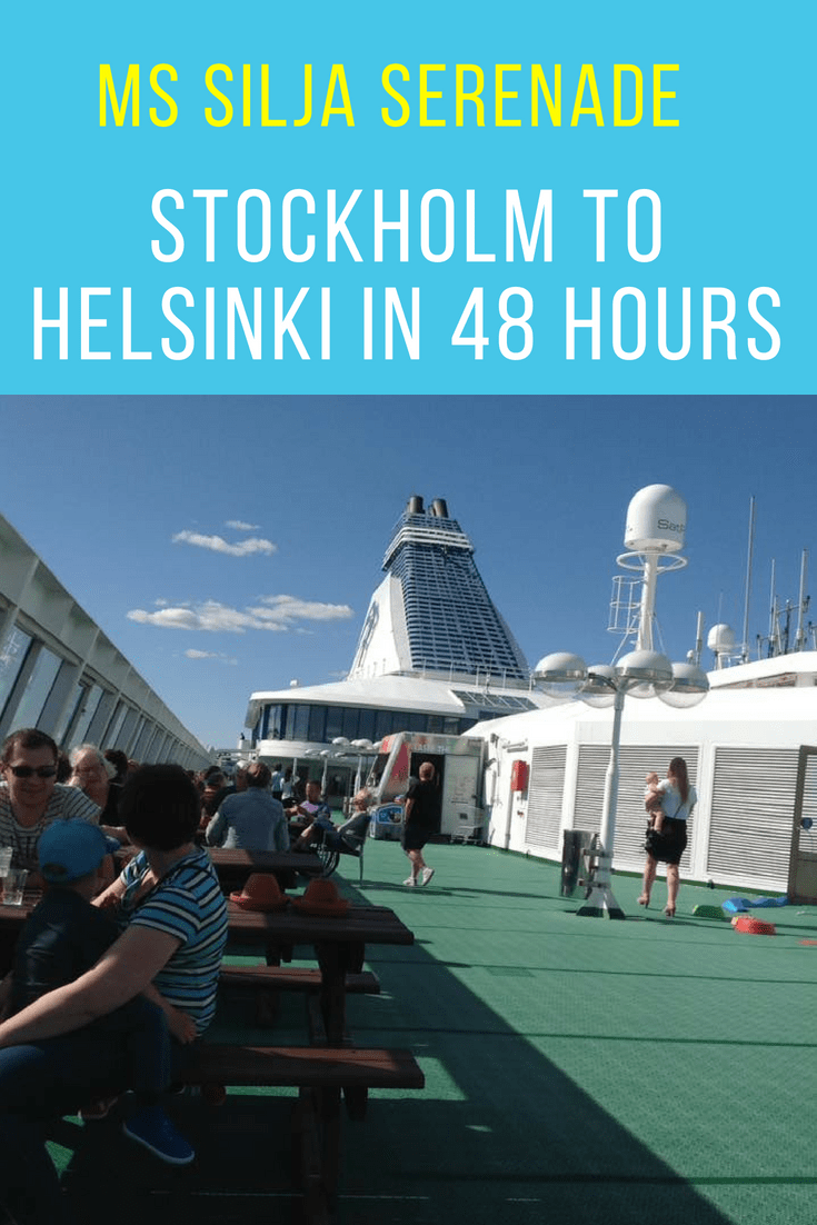 Whether you like sunbathing, sweating it out in the floating hot tubs, or lunching in the On board Grande buffet, The Silja Serenade cruise ship has you covered. This summer, we sailed From Stockholm to Helsinki in style.