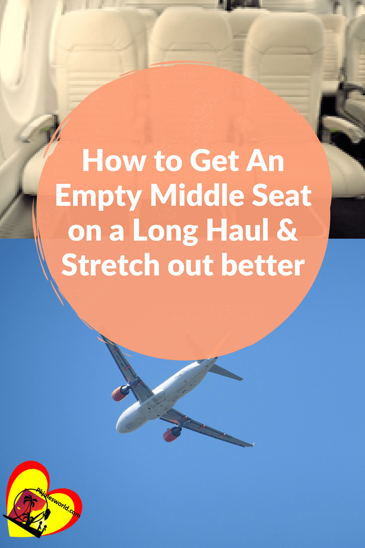 Here is Your best chance at having an entire row or extra seat for your long-haul flight! Our Best tips to get the middle empty seat on a plane for a good sleep. #flight #airtraveltips