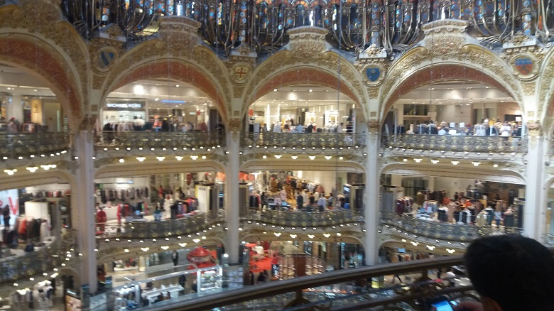 Galerie Lafayette - A Day in Paris is not complete without a spot of Shopping!