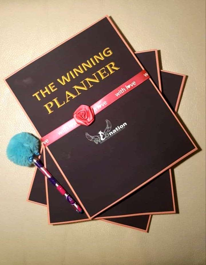 The winning Planner by Julie Sylvia Kalungi and Dr Paul Kalungi